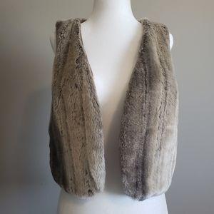 Le Chateau, Faux Fur Vest, Crop style, Medium